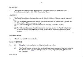 statement of claim alberta divorce court forms