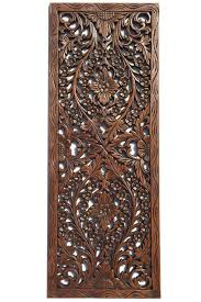 carved wood wall art india interior hand carved wooden wall decor wood panel s india