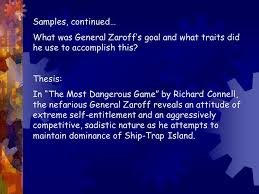 the most dangerous game rdquo essay ppt 5 samples continued
