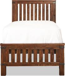 Levins Bedroom Furniture Lil Everett Full Bed Weathered Natural Levin Furniture