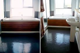 view in gallery bathroom with dalsouple rubber flooring