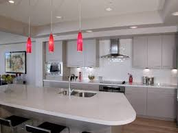 contemporary recessed lighting. Hot Pink Modern Pendant Light Fixtures With Contemporary Recessed Lighting And Edgy Kitchen Cabinet R