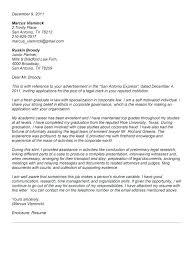 Sample Law Clerk Resume Best Legal Writing Sample Cover Letter