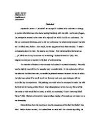 essay cathedral raymond carver essay on the cathedral by raymond carver 980 words bartleby