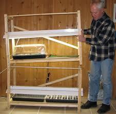 home built grow light stand