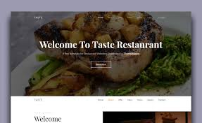 Restaurant Website Templates Interesting Free Bootstrap 48 Restaurant Template For Creating Food Website With Menu