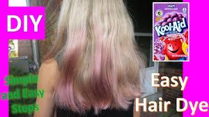 testing kool aid hair dye diy g flavor for purple hair