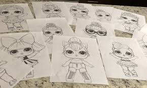 Lol Surprise Doll Coloring Pages Color All Of Your Favorite Lol