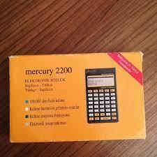 DİĞER Mercury 2200 ingilizce Türkçe elektronik sözlük milliyet gazetesi