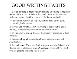 essay writing on good habits good habits for students essay sample essaybasics