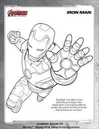 Avengers Iron Man Coloring Page Disney Movies Disney Infinity