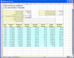 Amortization Schedule Template In Excel Printable Schedule