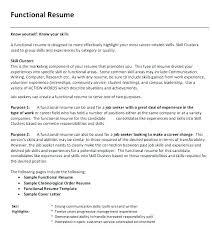 Resume Sample Format Career Change Resume Samples Sample Functional