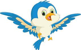 blue bird flying clipart. Simple Clipart Cute Blue Bird Cartoon Flying Vector Art Illustration For Blue Bird Flying Clipart