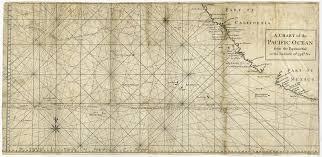 Ocean Charts California Antique Map Pacific Ocean