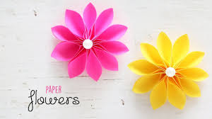 Paper Crafted Flowers Diy Beautiful And Easy Flowers Paper Crafts Handmade Youtube