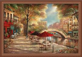 amazon riverwalk charm by ruane manning italian village 39x27 framed art print picture wall decor italian kitchen decor posters prints on italian wall art prints with amazon riverwalk charm by ruane manning italian village 39x27