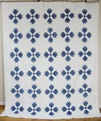 17 Best images about Quilt - Bear Paw on Pinterest | Bear claws ... & Antique 1880's Blue and White Bears Tracks Quilt 12 SPI | eBay Adamdwight.com