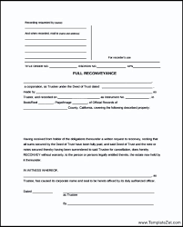 Simple Deed Of Re Conveyance Form Templatezet