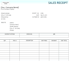 Free Sales Invoice Template For Excel Best Receipt Sample Word
