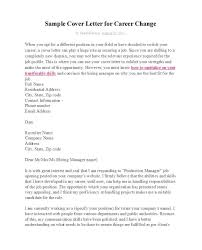 39 Professional Career Change Cover Letters Template Lab