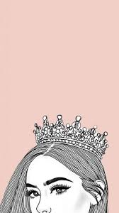 Aesthetic Queen Rose Gold Crown Wallpaper