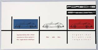 Rare Porsche Color Chart Speedster