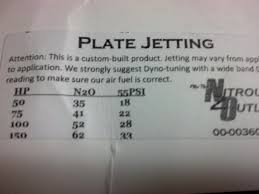 Zex Nitrous Plate Jet Chart Nitrous Outlet Jet Chart Best Picture Of Chart Anyimage Org