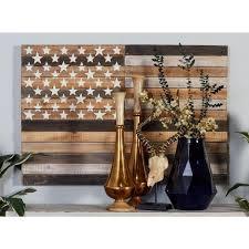 rustic american flag framed wooden