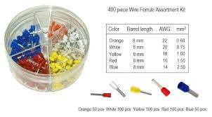 Ferrule Color Chart Wire Ferrule Assortment Kit 400pc Kit Wire Cable Wire