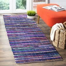 rag rug runner rag rug transitional stripe hand woven cotton blue multi runner rug x rag rug runner