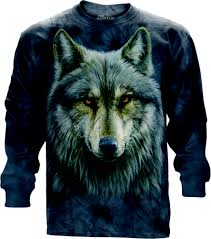 Wolf Design Sweatshirts Long Sleeved T Shirt Cursed Wolf