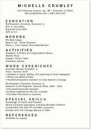 Resume Sample Sample College Resume High School Senior Resume