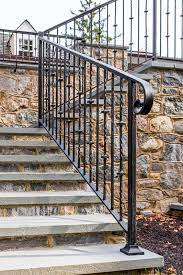 This safety feature also gives stairs a visual presence and can make a staircase a work of art. Exterior Railings Compass Iron Works