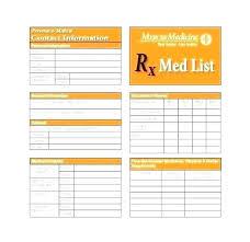 Emergency Medical Information Form Template