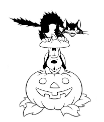 Small Picture Pluto Pumpkin Black Cat Disney Halloween Coloring Pages Cat