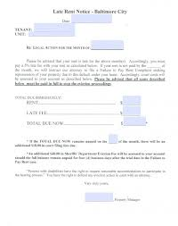 Free Maryland Eviction Notice For Late Rent Notice To Quit Pdf