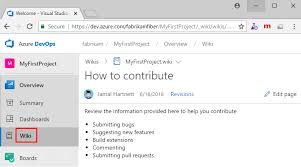Edit Wiki Add Edit Reorder And Manage Wiki Pages Azure Devops
