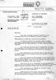 Rnault's Letter Resuming Issues April 74 - Fahrzeugbau