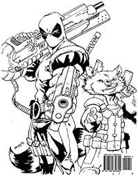 Coloring books for boys and girls of all ages. Deadpool Coloring Book Coloring Book For Kids And Adults Activity Book With Fun Easy And Relaxing Coloring Pages Ivazewa Alexa Amazon Sg Books