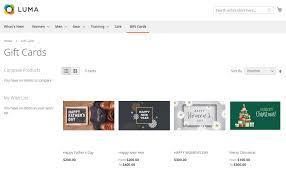 magento 2 gift card extension gift cards are shown in a separate page