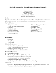 Resume Music Resume Music Sample Music Resumes Resume Template For