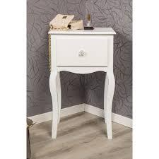 Nachttisch Weiß Mit Einer Schublade