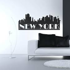 new york skyline wall decal also new wall decal new york skyline vinyl wall decal ndr