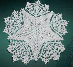 Crochet Cover Christmas Star In White Silver Crotchet