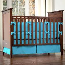 blue solid color crib bedding