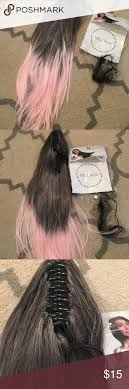 Grey To Pink Clip On Ponytail