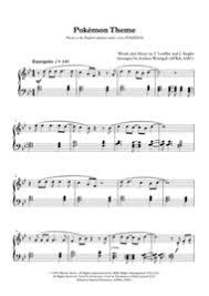 pokemon sheet music piano download pokemon theme easy piano sheet music by original theme