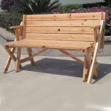 china wood outdoor bench table combined