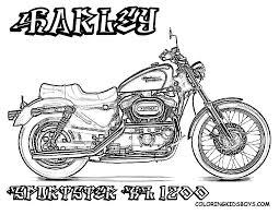 Harley davidson coloring on motorcycle engine clip art